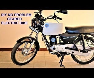 Scrap Gas Bike to Mean Green Geared Electric Commuter Bike