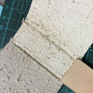 Make Groove on Fold Line, Make Groove Will Make the Leather Easier to Be Fold.