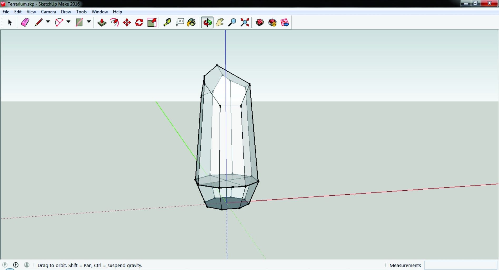 Shaping the Terrarium in SketchUp