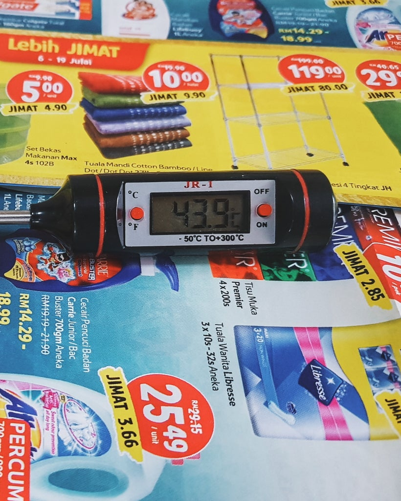 Prepare Thermometer and Wait the Mixture Cool Down to 50°C - 45°C.