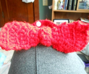 Faux Crocheted Bow Tie