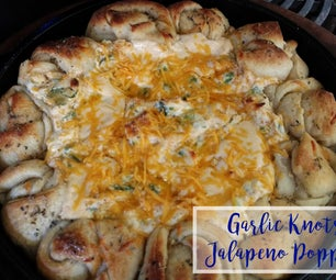 Garlic Knots & Jalapeno Popper Dip