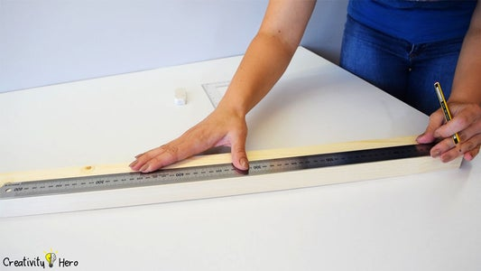 Measuring and Cutting the Wood Strip.