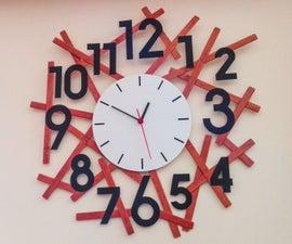 Easy Modern Wall Clock