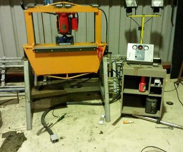 20 Ton Air Operated Pan Brake/press Combo