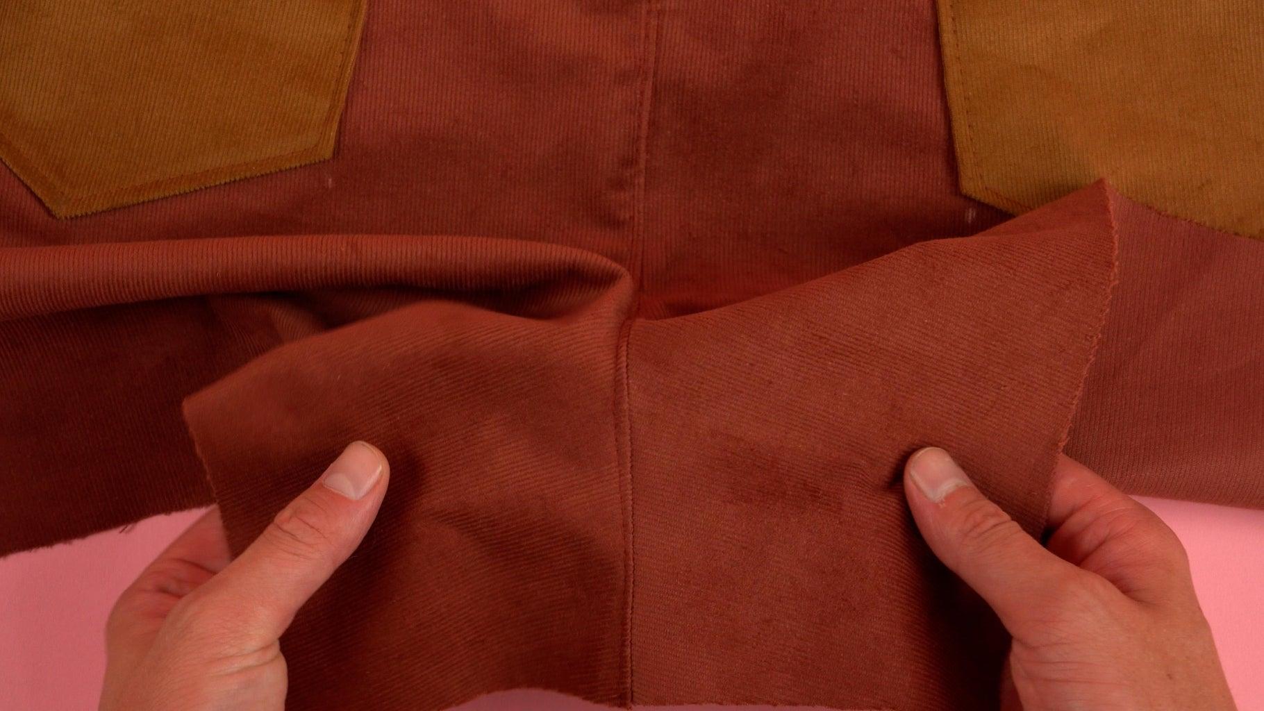 Topstitch Back Pant Panel