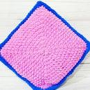 Cozy Square Crochet Plush Pillow