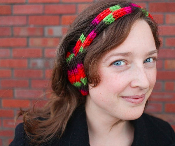 Easy French Knit Earmuff Headband