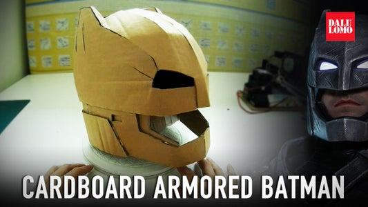 DIY Armored Batman Helmet Using Cardboard
