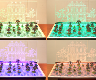 How to Design and Laser Cut a Lit Display Board for War-gaming Miniatures