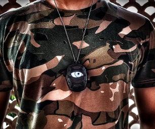 鬼眼吊坠,带ESP8266和TFT显示万圣节