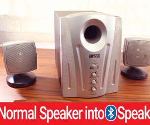 How to Convert Any SPEAKER Into BLUETOOTH SPEAKER