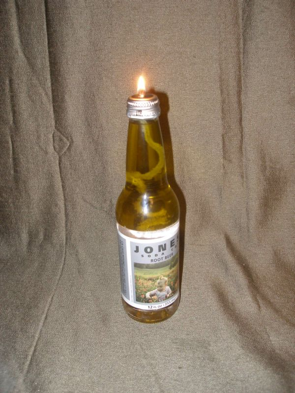 Glass Bottle Oil Lamp