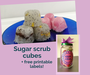 Sugar Scrub Cubes (with Printable Labels)