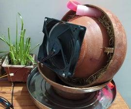 Earthen Pot AC With Homemade Waterpump