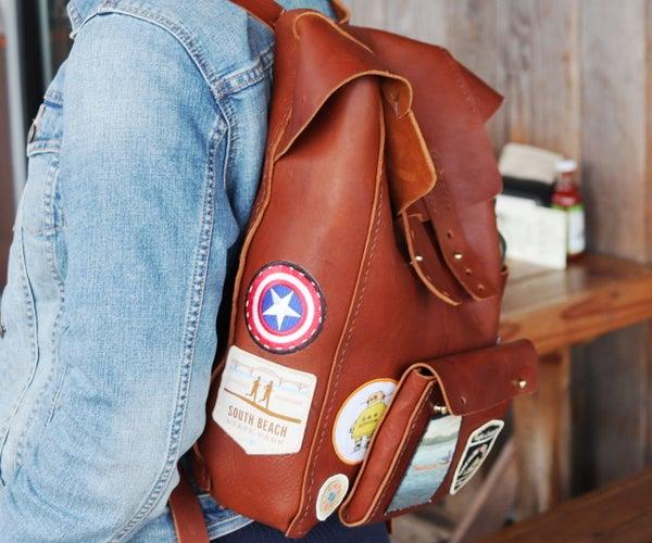 Making a Leather Backpack - Fjällräven Style
