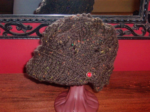 Newsboy Peak Knitted Cap