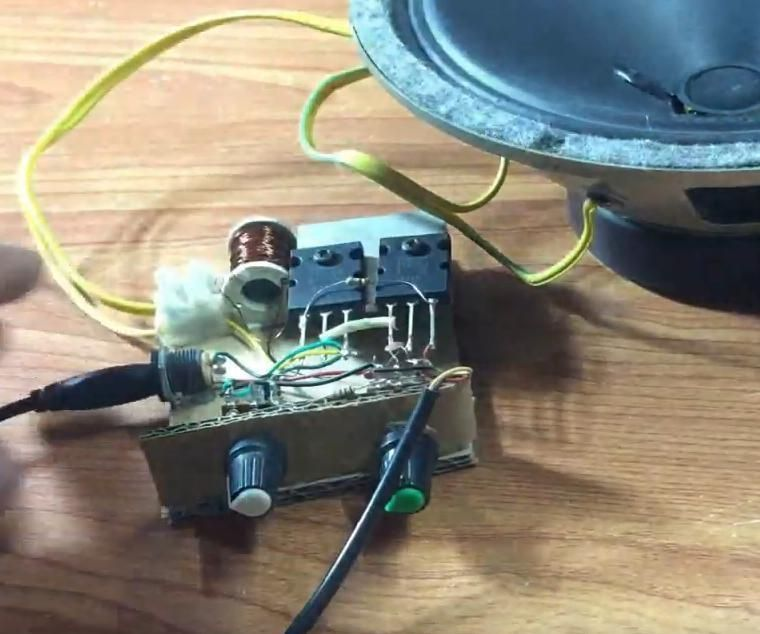 DIY  Powerful Amplifier  With A1943/C5200