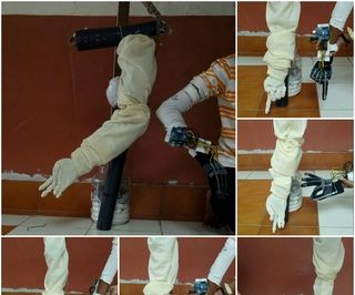 Wireless Robotic Hand Controlled by Gesture and Voice