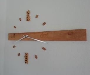 现代木时钟