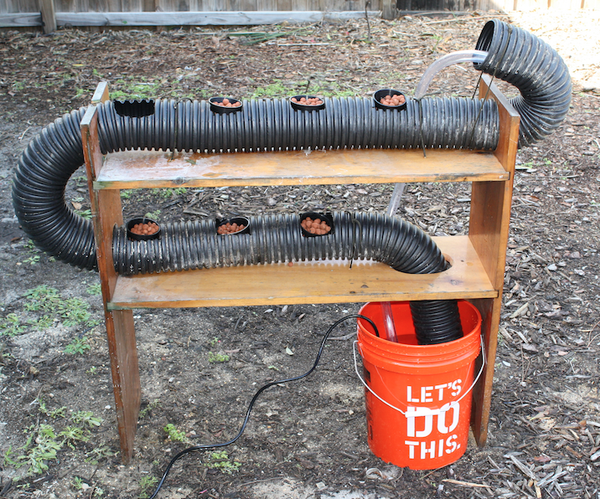 Hydroponics With Reclaimed Materials