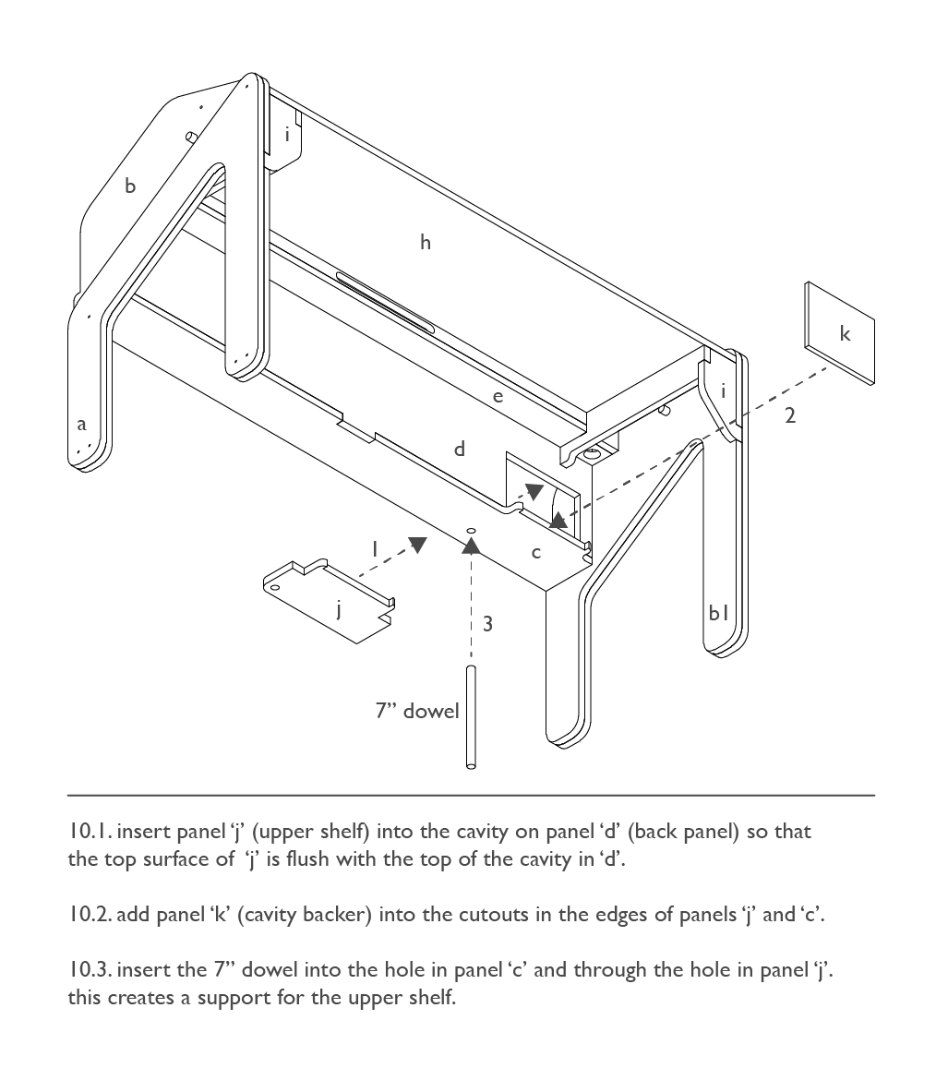 Assembly: Shelf and Nook
