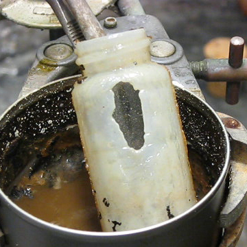 Dissolve Glass with Drain Cleaner