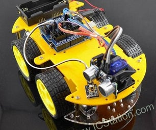 Installation of Bluetooth Multi-Function Smart Car for Arduino Controlled by Mobile Phone