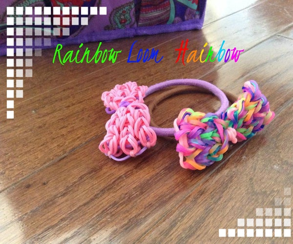 Rainbow Loom Hairbow