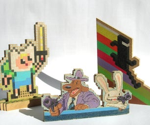 Small-scale Wooden Pixel Art (v2)