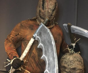 Halloween Scarecrow Costume With Additional Props