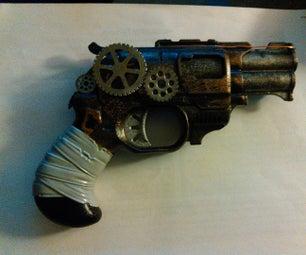 Steampunk DoubleStrike Nerf Gun