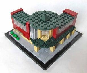 A LEGO® Built Micro Scale Set of Longmont Museum, Colorado by Imagine Rigney