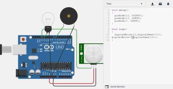 Step 3:Adding Buzzer to the Circuit,Program & Output