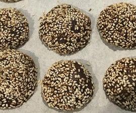 Chocolate Benne Cookies