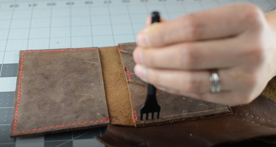 Punching the Holes and Stitching