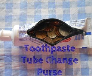 Toothpaste Tube Change Purse