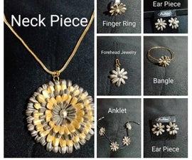 Jewelry Set Made of Sunflower Seeds!