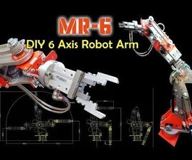 DIY Robot Arm 6 Axis (with Stepper Motors)