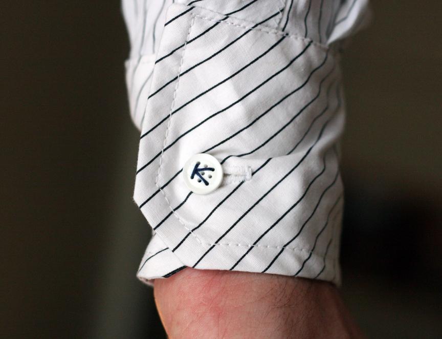 Custom Shirt with Nine-Hole Buttons