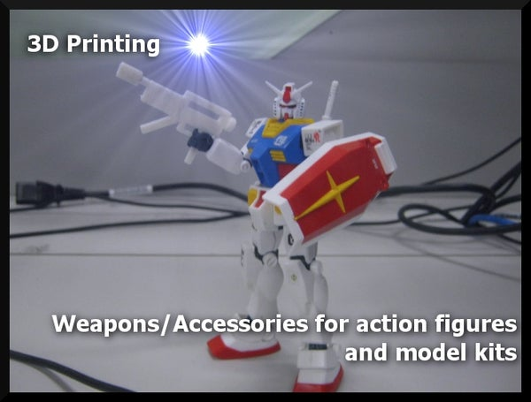 3D Printing Weapons/Accessories for Action Figures and Model Kits