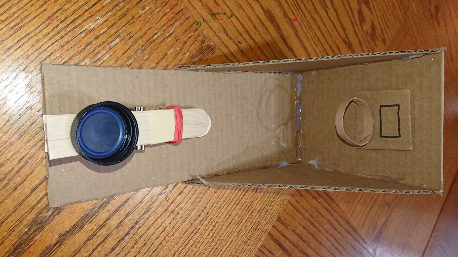 Cardboard Basketball Game With Working Catapult