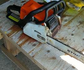 Chainsaw Bar Oil Repair With Shop Vac