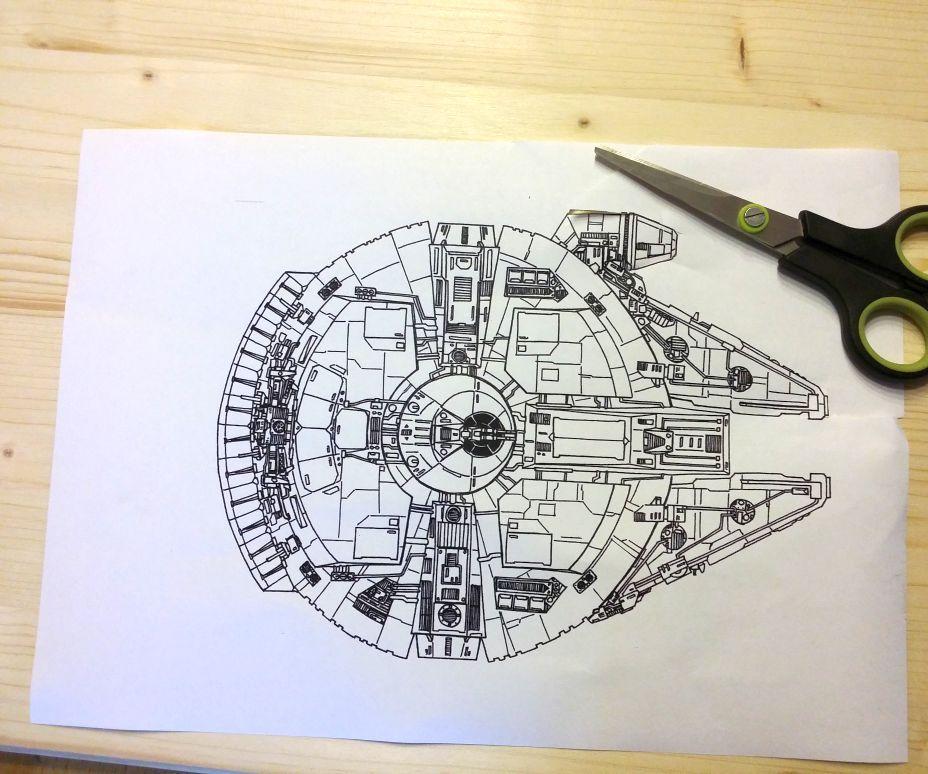 DIY Millennium Falcon Wall Clock