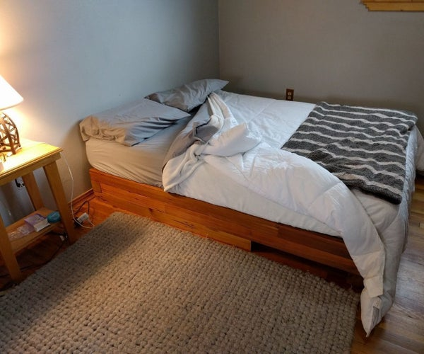 Reclaimed Cedar Fence Post Bed Frame