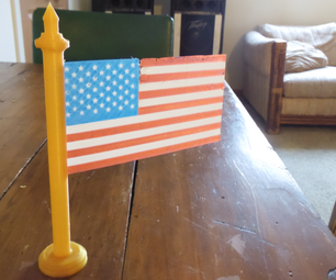 3D Printed American Flag - Multicolor Single Extruder Printing