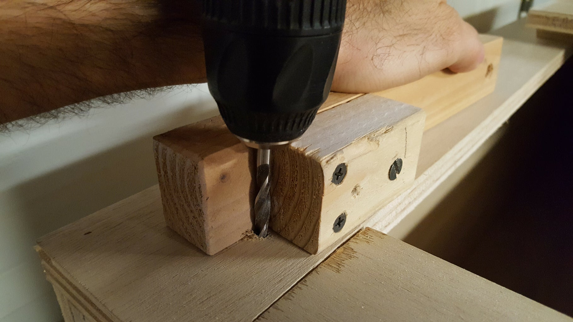 Drill and Pin the Seat to the Boxes