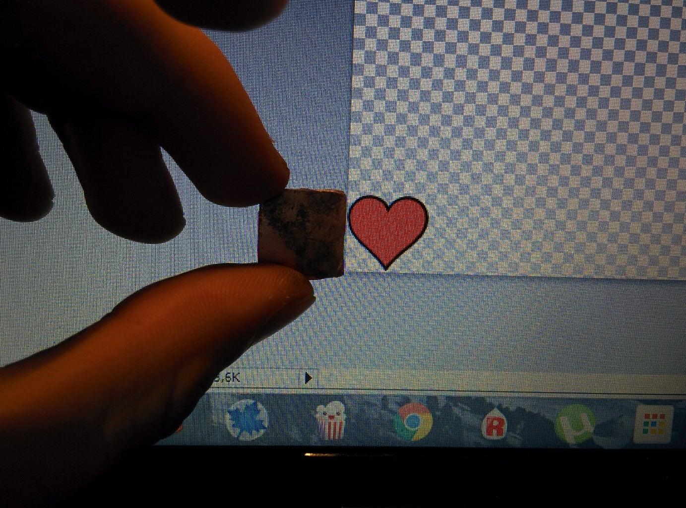 Shaping the Heart Pendant, Forging