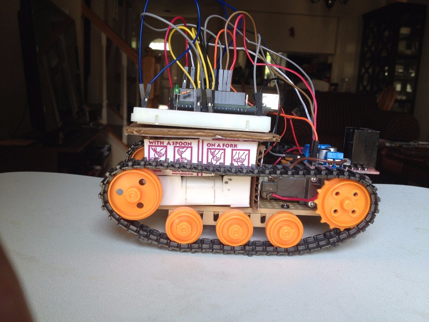Control Robot With a TV Remote