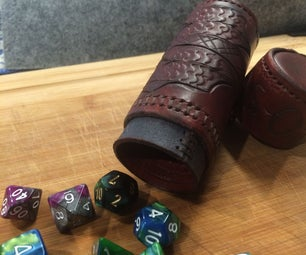 Leather Dice Tube